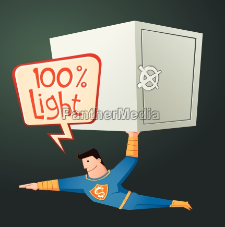 superhero carry a deposit box