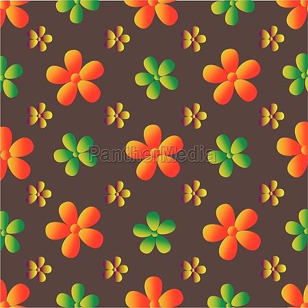 vector flowers pattern