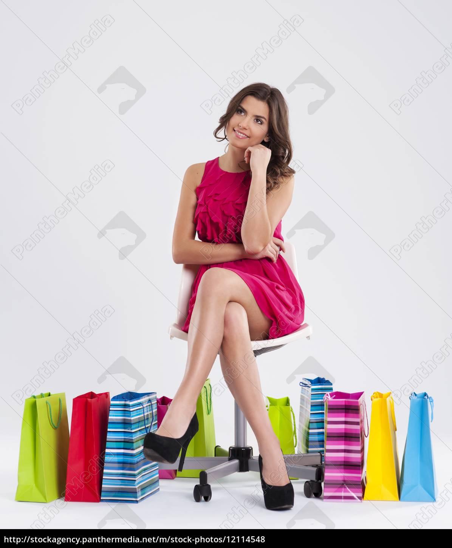 träumen, der, schönen, shopper - 12114548