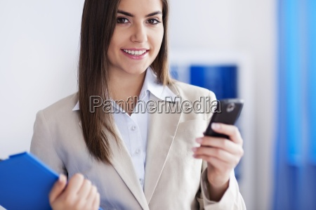 working young woman