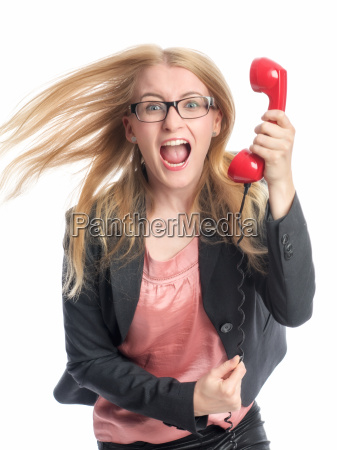 businesswoman on handset