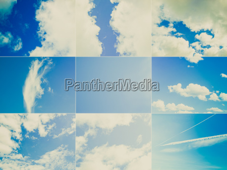 blau collage witterung himmel firmament wetter