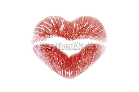 lippenstift in kuss form