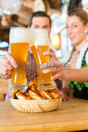 bavarian couple encounters with beer