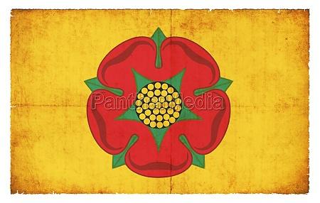grunge flagge lancashire grossbritannien