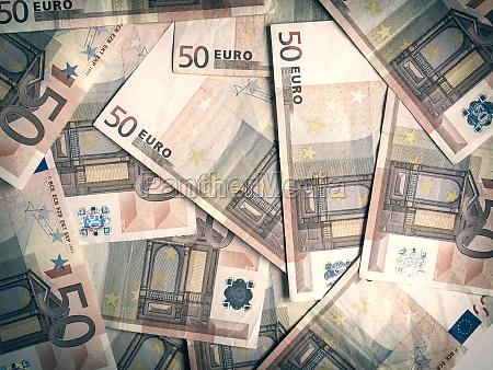 retro blick eurobankonotehintergrund