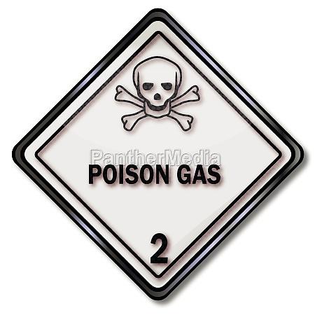 transportzeichen warnung vor giftigen stoffen und