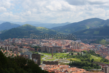 view on the center of bilbao