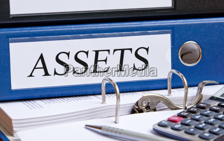 assets blue binder in the
