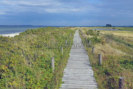 way over the dunes in the