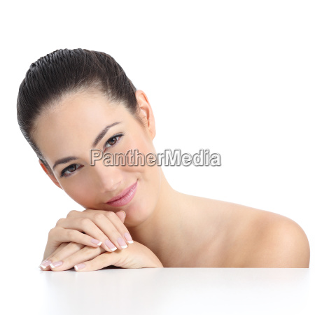 beauty woman soft skin face and