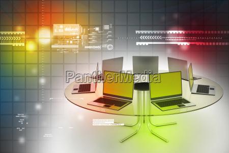 laptop am tisch