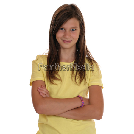 teenage girl portrait with crossed arms