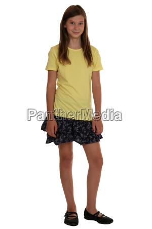 girl full body portrait isolated