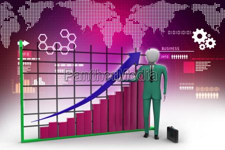 business man standing near a financial