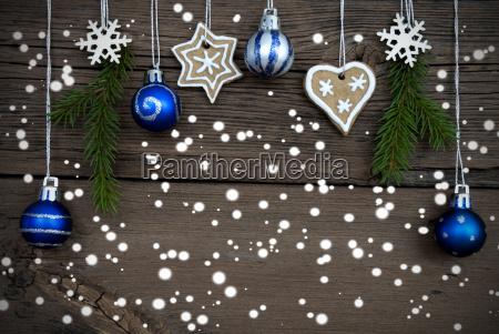 winter dekoriert weihnachten hintergrund mit schnee