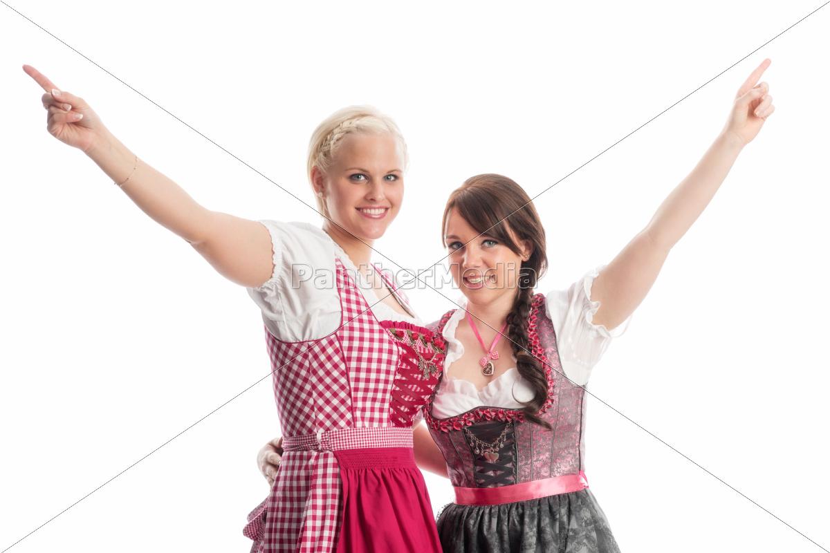 2, mädchen, auf, dem, oktoberfest - 12210406