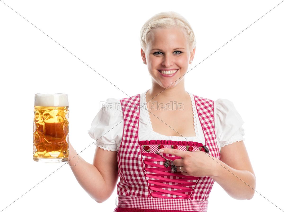 blonde, bayrin, mit, mass, bier - 12210444