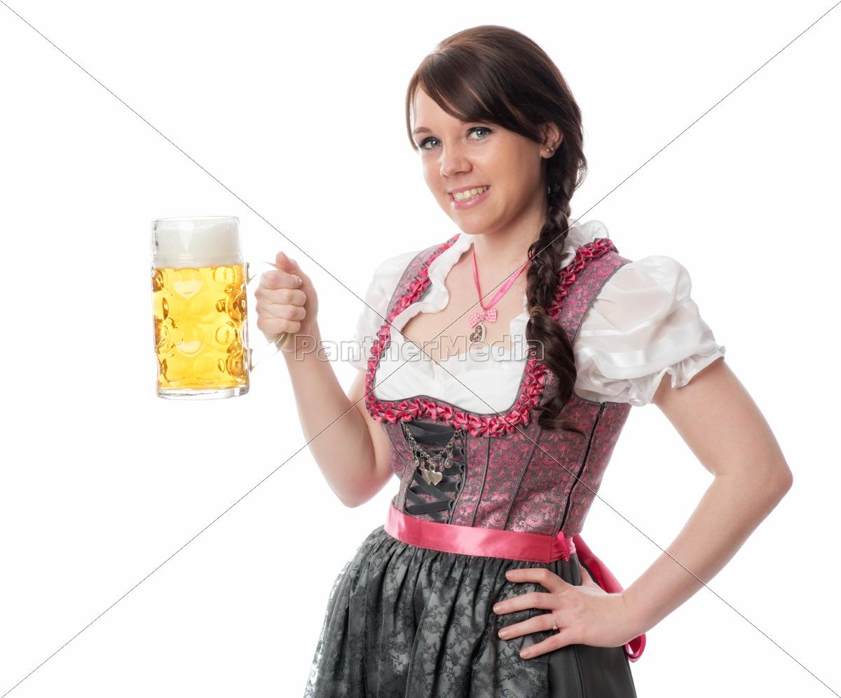 süße, bayrin, mit, maß, bier - 12210418