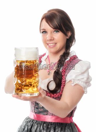 süße, bayrin, mit, maß, bier - 12210422