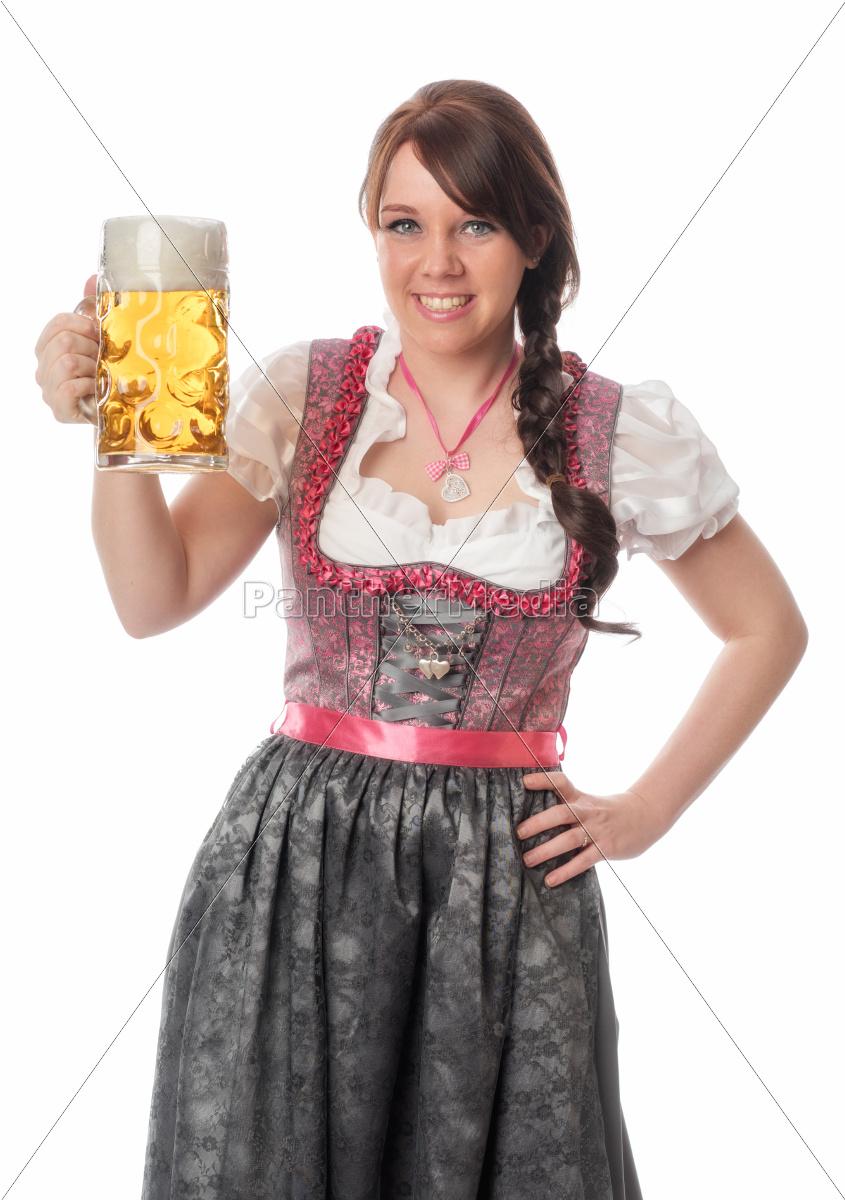 süße, bayrin, mit, maß, bier - 12210454