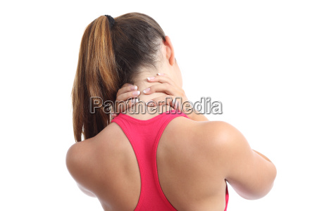 back view of a fitness woman