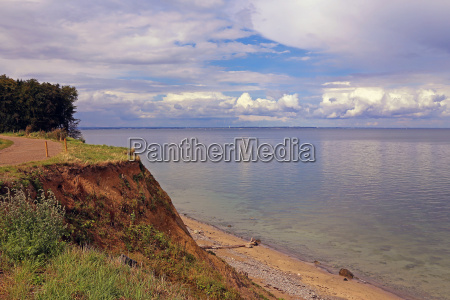 cliff on the baltic sea at
