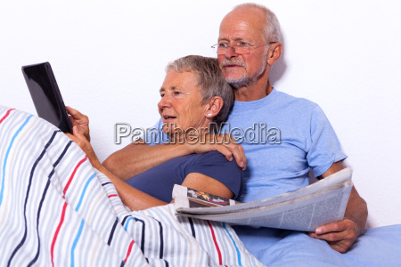 senior couple with men and women