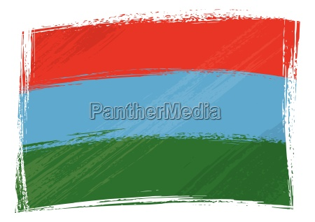 grunge karela flagge