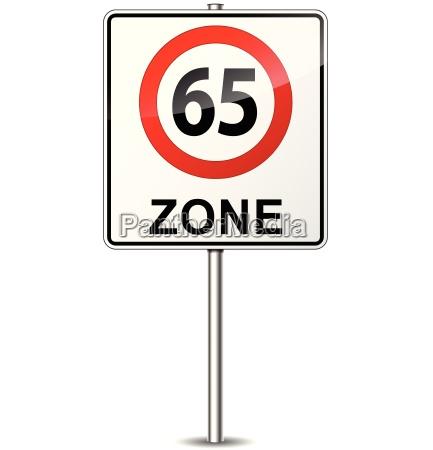 geschwindigkeitsbegrenzungszeichen