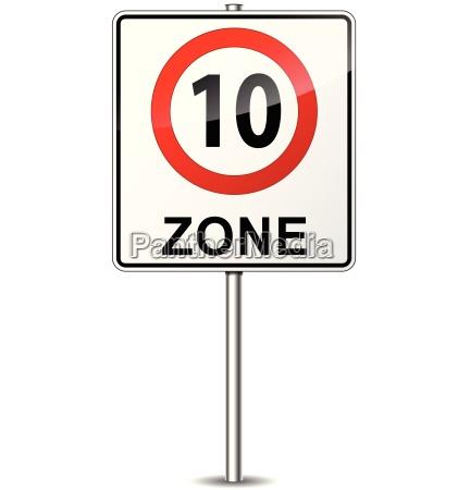 vector geschwindigkeitsbegrenzungszone zeichen