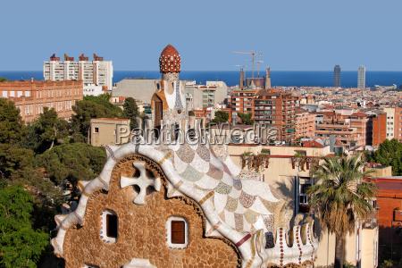 park pavillon pavillion mosaiken mosaik barcelona