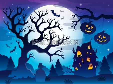 spooky baum thema bild 8