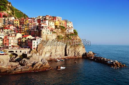 traditionelle mediterrane architektur von manarola italien
