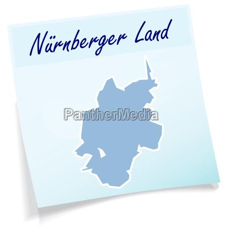 nuernberger land als notizzettel