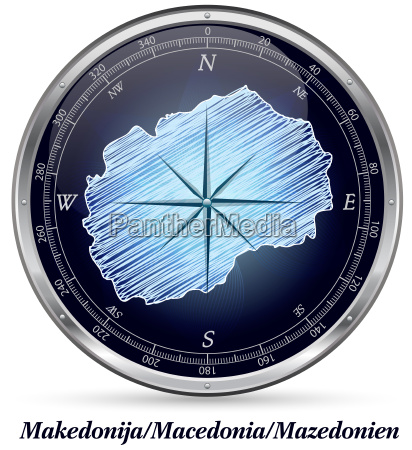 mazedonien mit grenzen