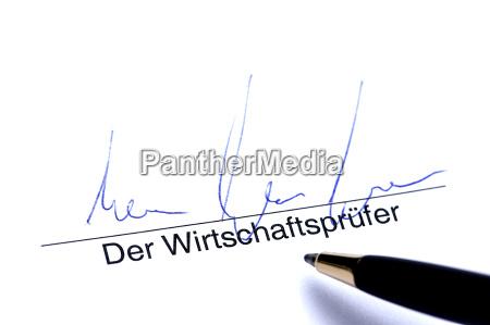 unterschrift der wirtschaftspruefer