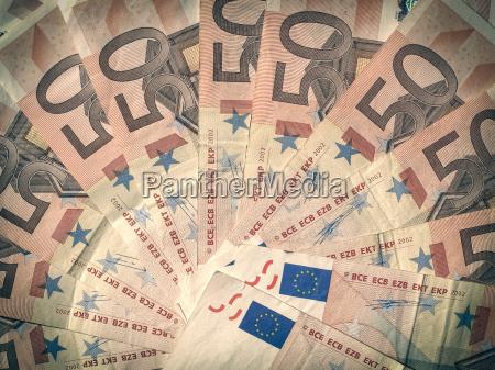 retro look euro schein