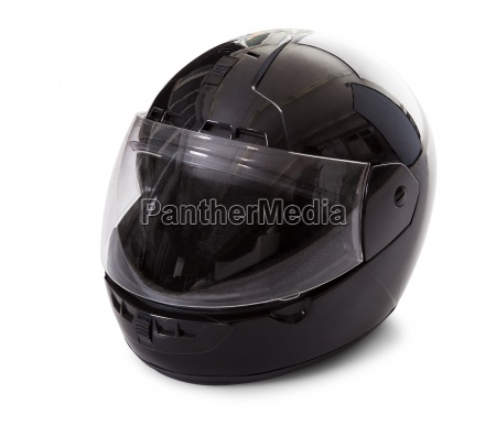 sort motorcykel hjelm