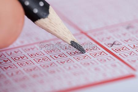 person kennzeichnung anzahl on lottery ticket