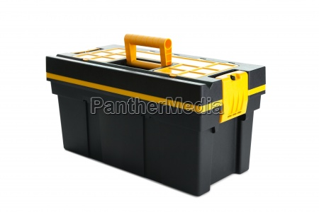 professional tool box on white background