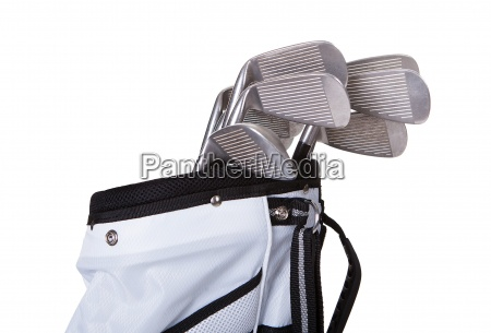 close up of a golf bag