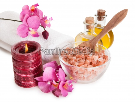spa kit with sea salt