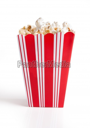 close up of popcorn bucket