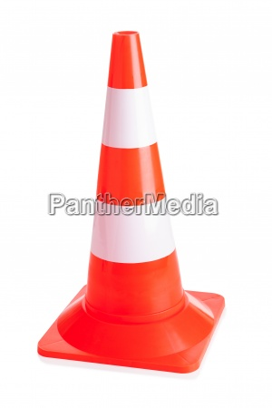 close up of traffic cone