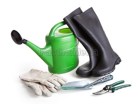 close up of gardening tools