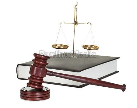 richter hammer und gesetzbuch