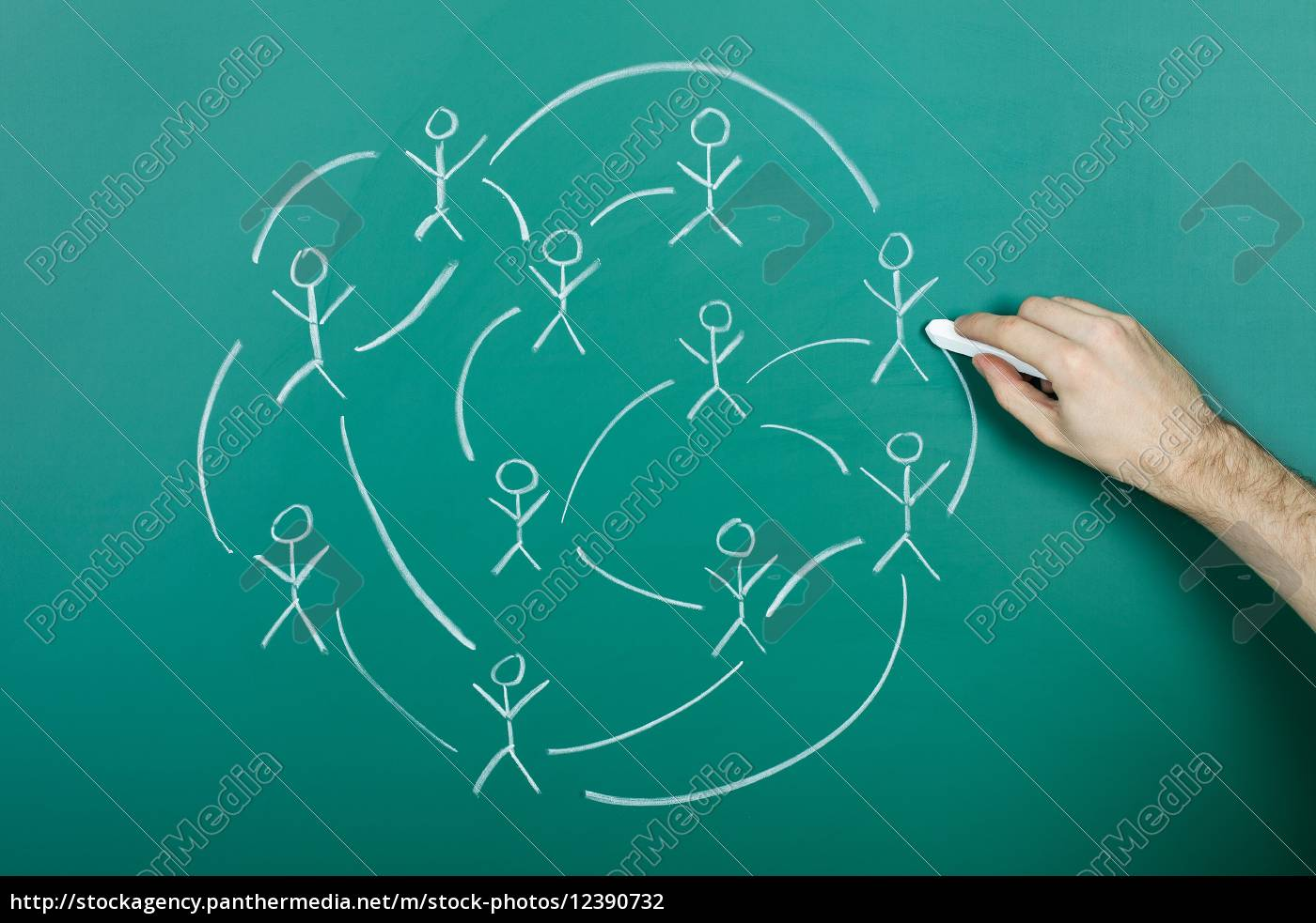 zeichnen, des, sozialen, netzwerks - 12390732
