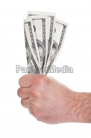 close up of mans hand holding