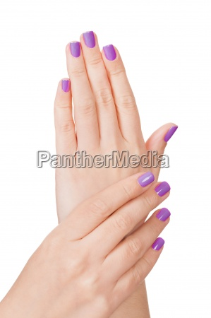 human fingers with beautiful manicure